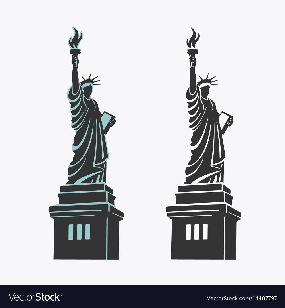 New york statue liberty symbol