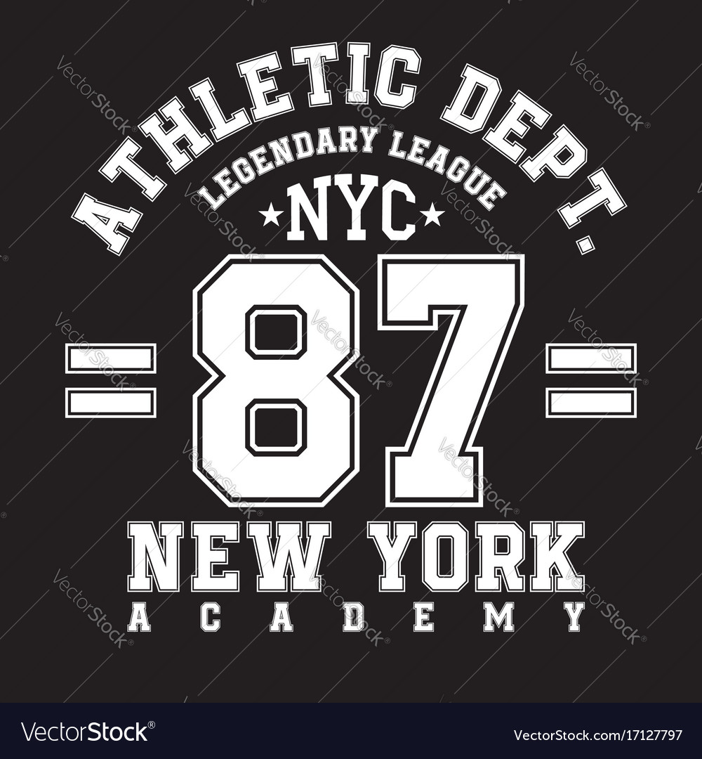 New york typography for t-shirt print sports
