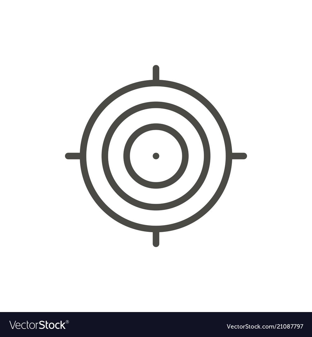 Target icon outline focus line shot symbo