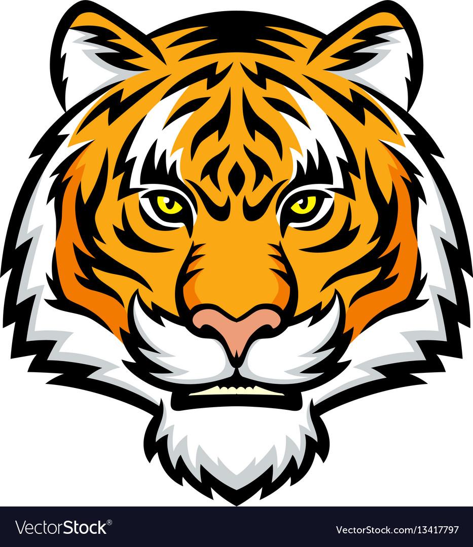 tiger head logo royalty free vector image vectorstock