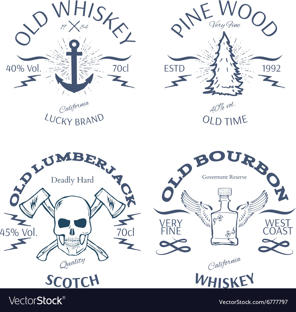 Vintage Style Whisky Label Design