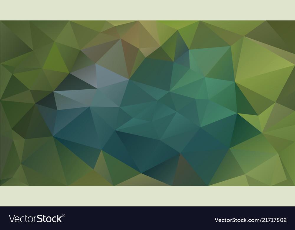 Abstract irregular polygonal background green teal