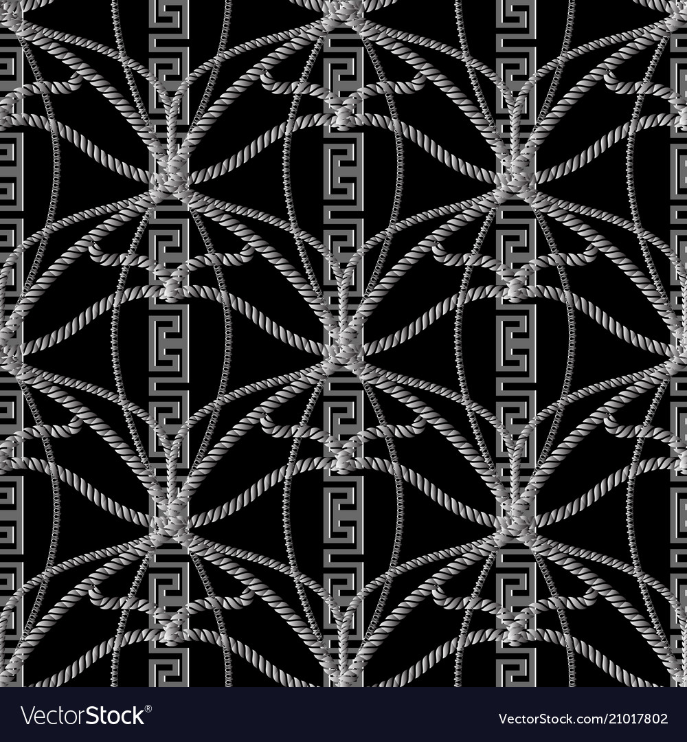 Abstract rope greek seamless pattern