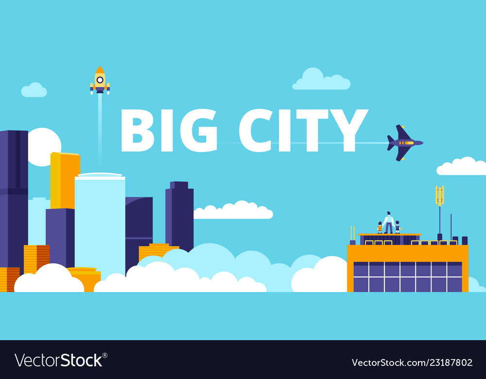 Big city urban flat smart