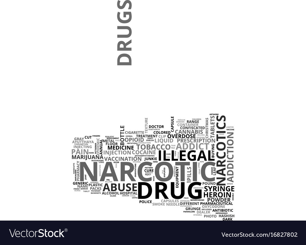 Narcotic word cloud concept