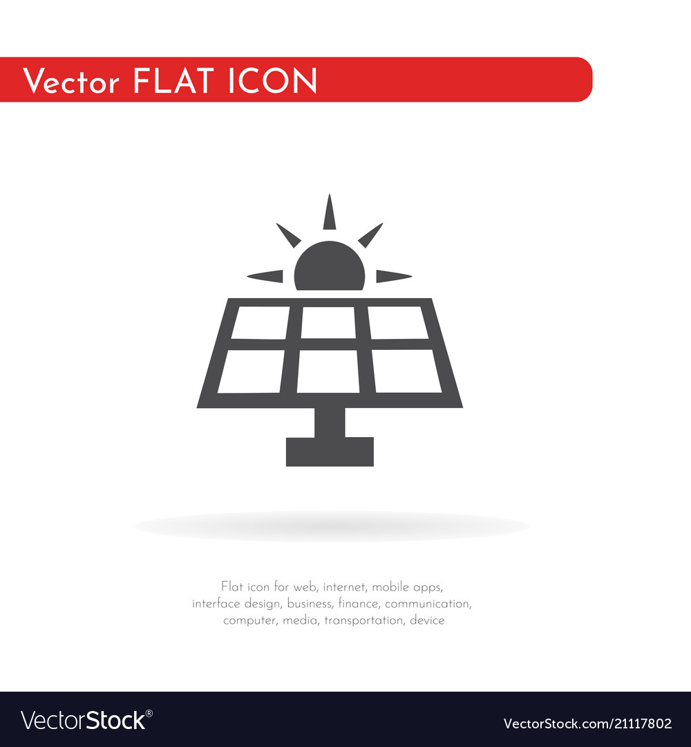 Solar panel icon for web business finance and