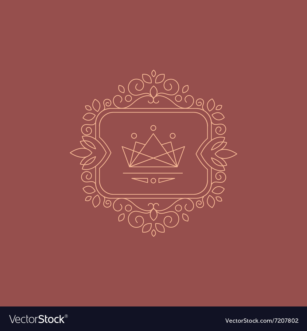 Stylish Monogram Design Template vector image