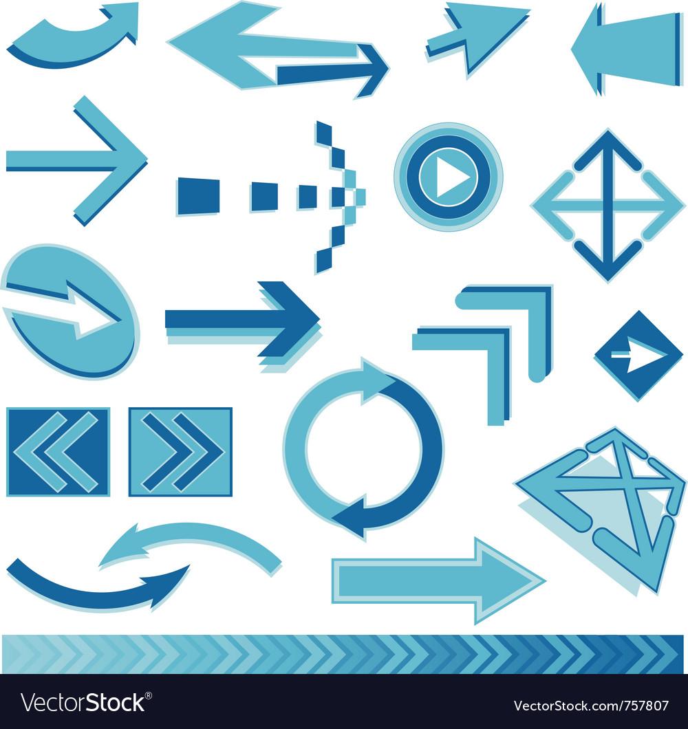 Blue arrows sign
