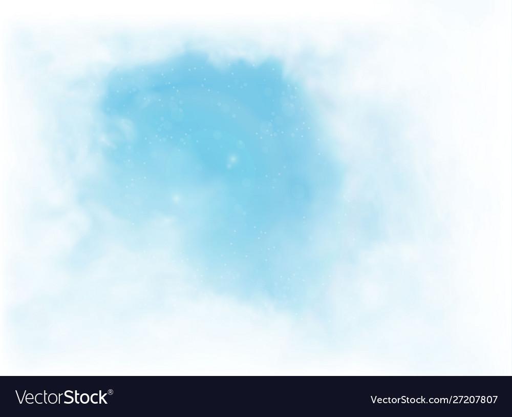 Clouds and smoke on blue sky