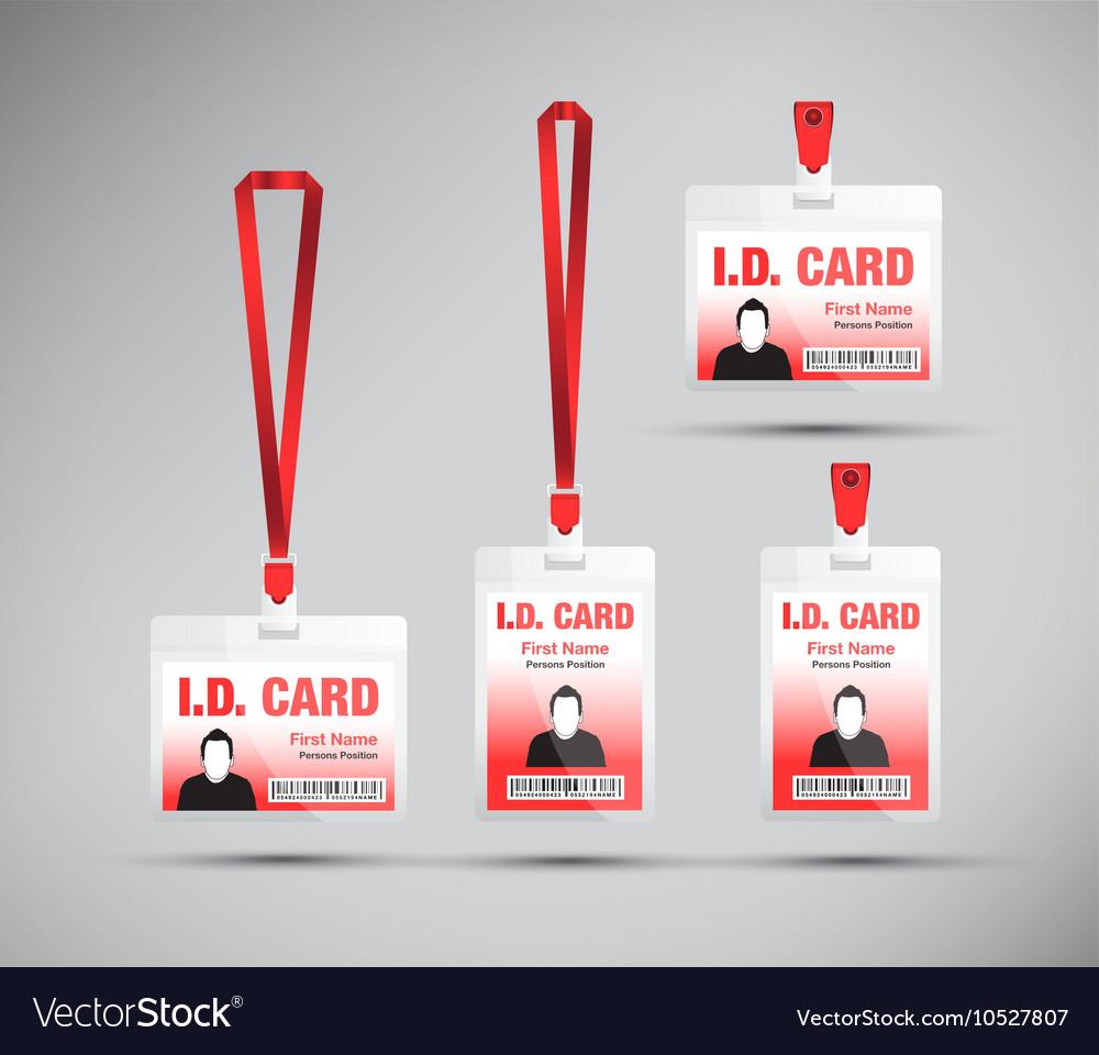 Id card man red Royalty Free Vector Image - VectorStock