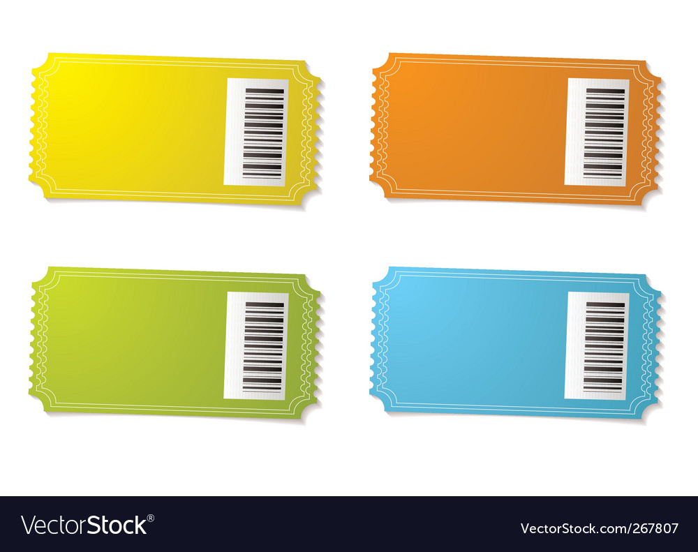 Ticket stub barcode vector image