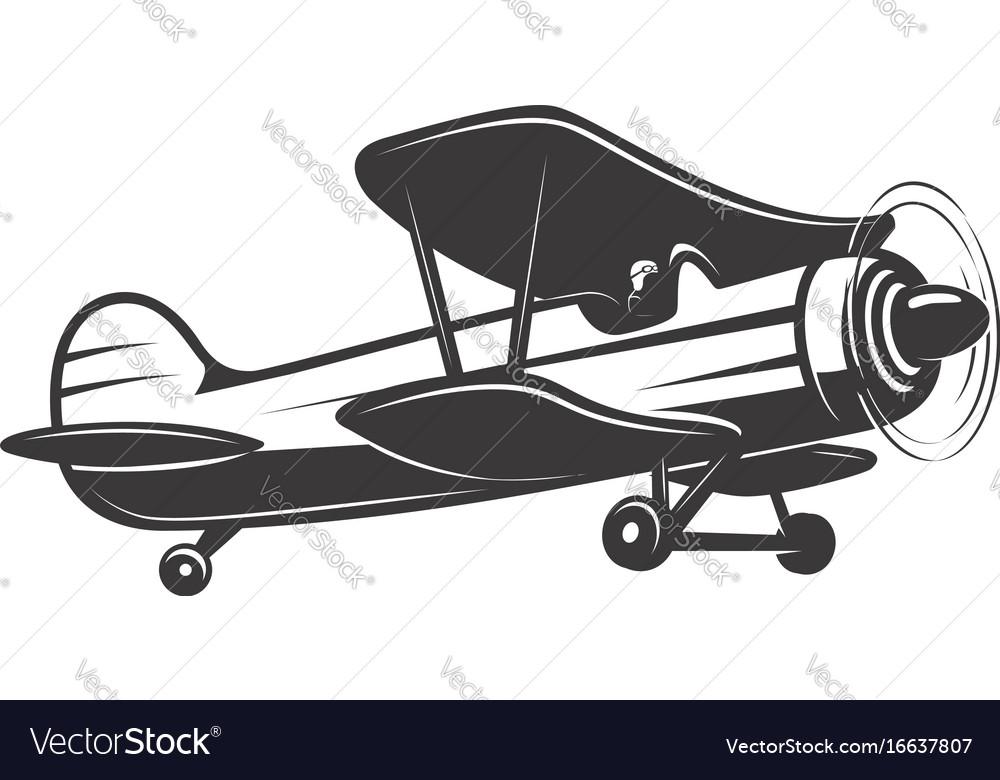vintage airplane royalty free vector image vectorstock