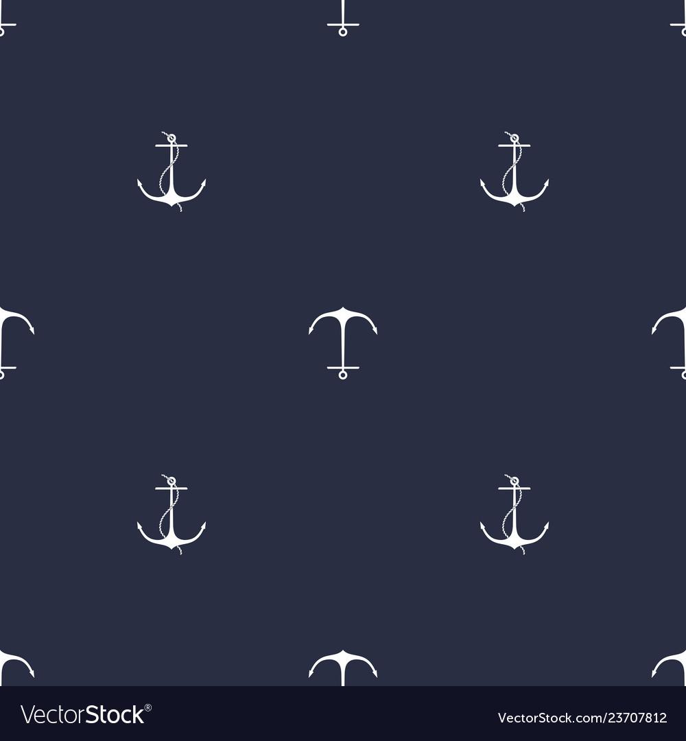 Anchor navy blue pattern