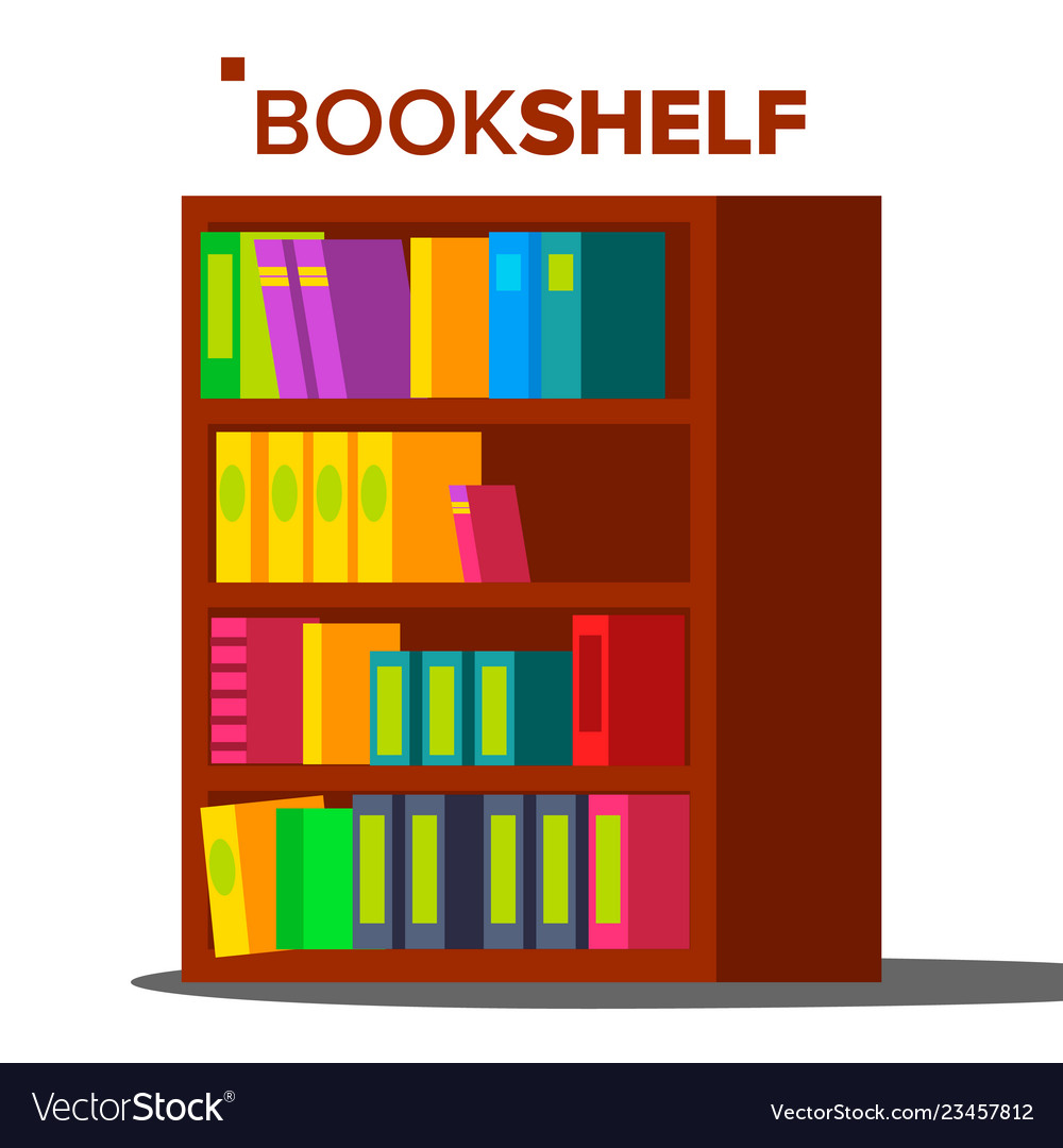 Bookshelf home library or book store