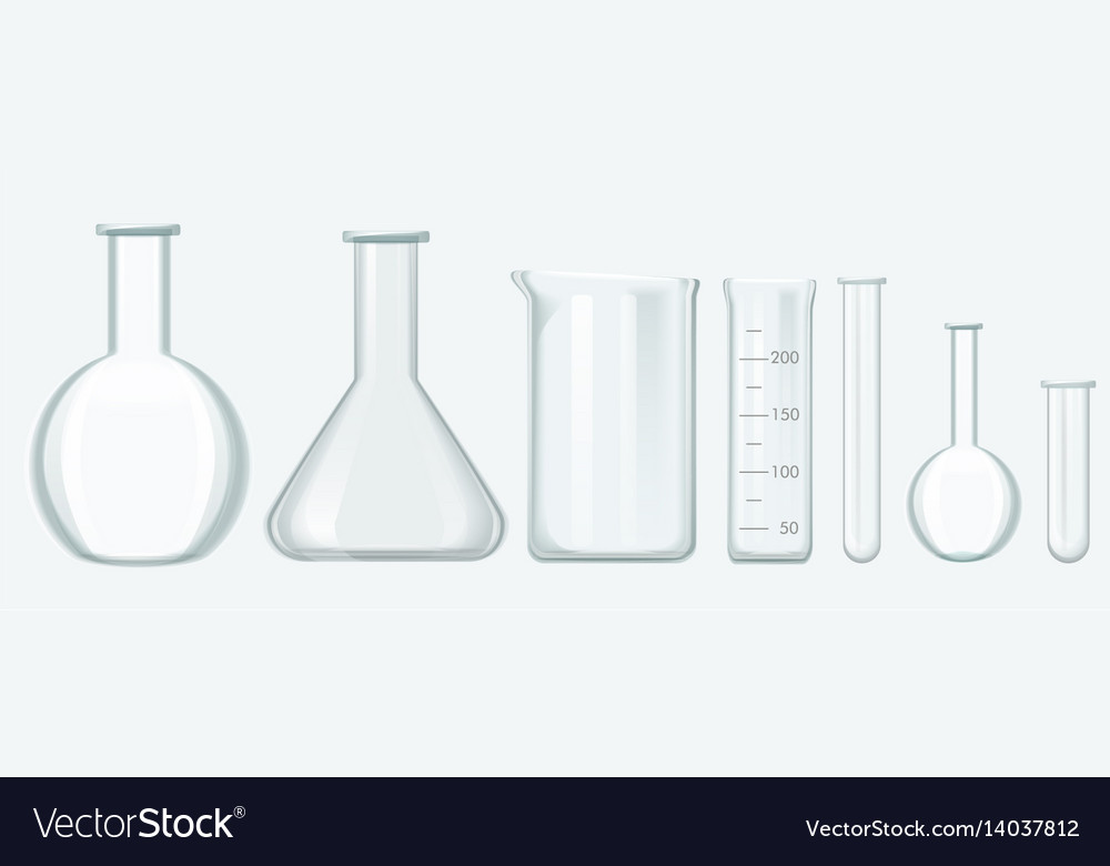 Chemical science equipment set laboratory glass