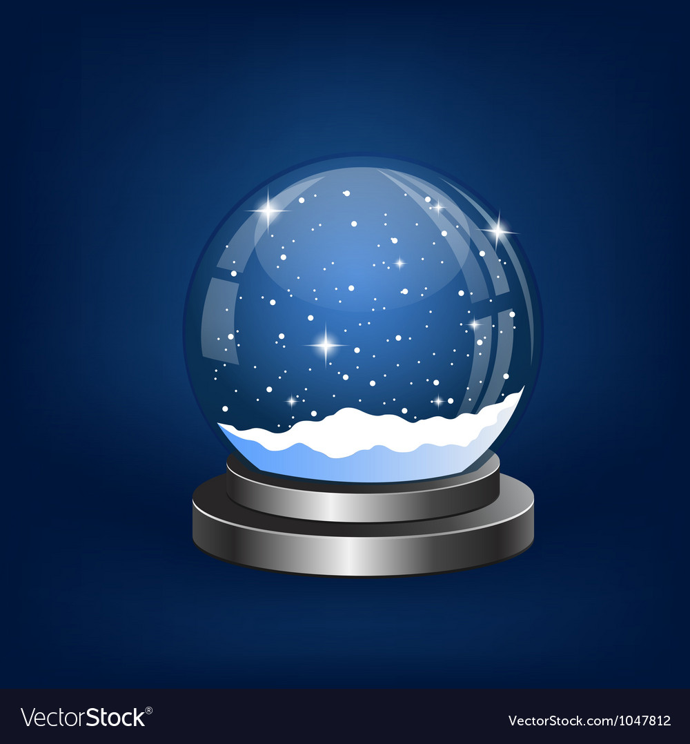 Snow For Christmas.Christmas Snow Globe