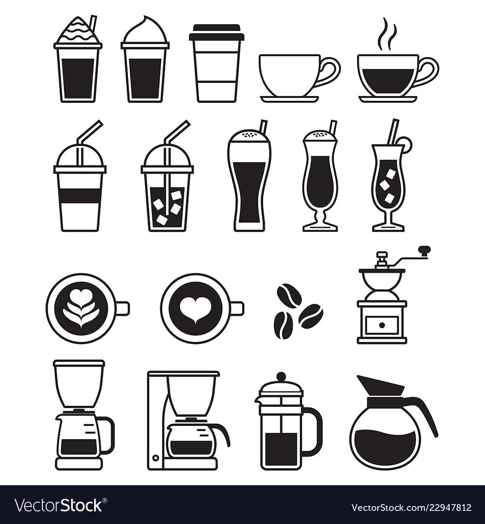 Coffee black icons