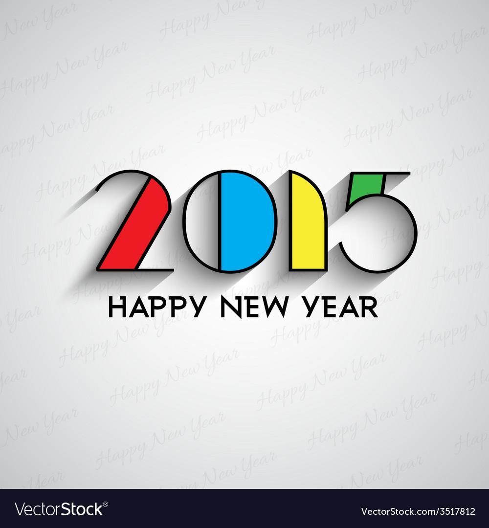 Happy new year typography background 2811