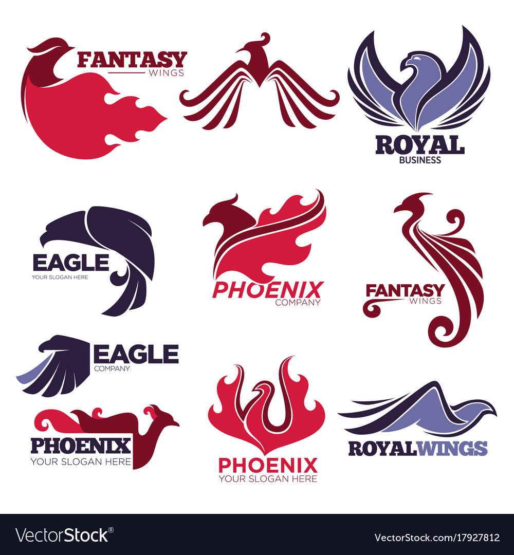 Phoenix fire bird fantasy eagle template