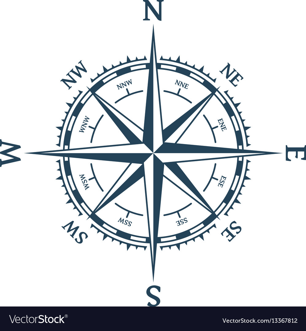 wind rose royalty free vector image vectorstock free compass vector download free compass vector download