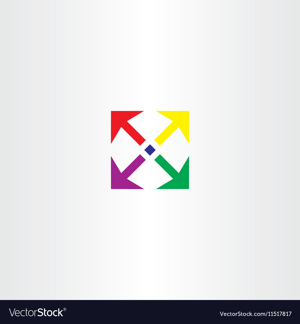 Arrows square icon colorful design element vector image