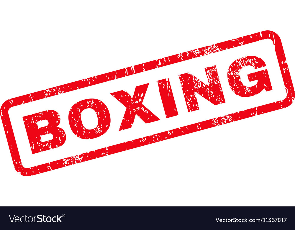 Boxing Text Rubber Stamp vector image
