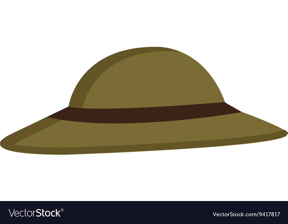 Green hat with brown loop graphic
