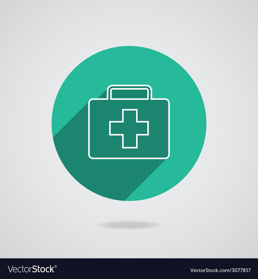 Medical white icon in line