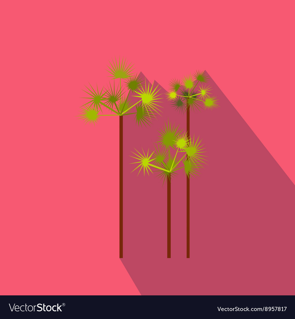 Palm trees icon flat style vector image