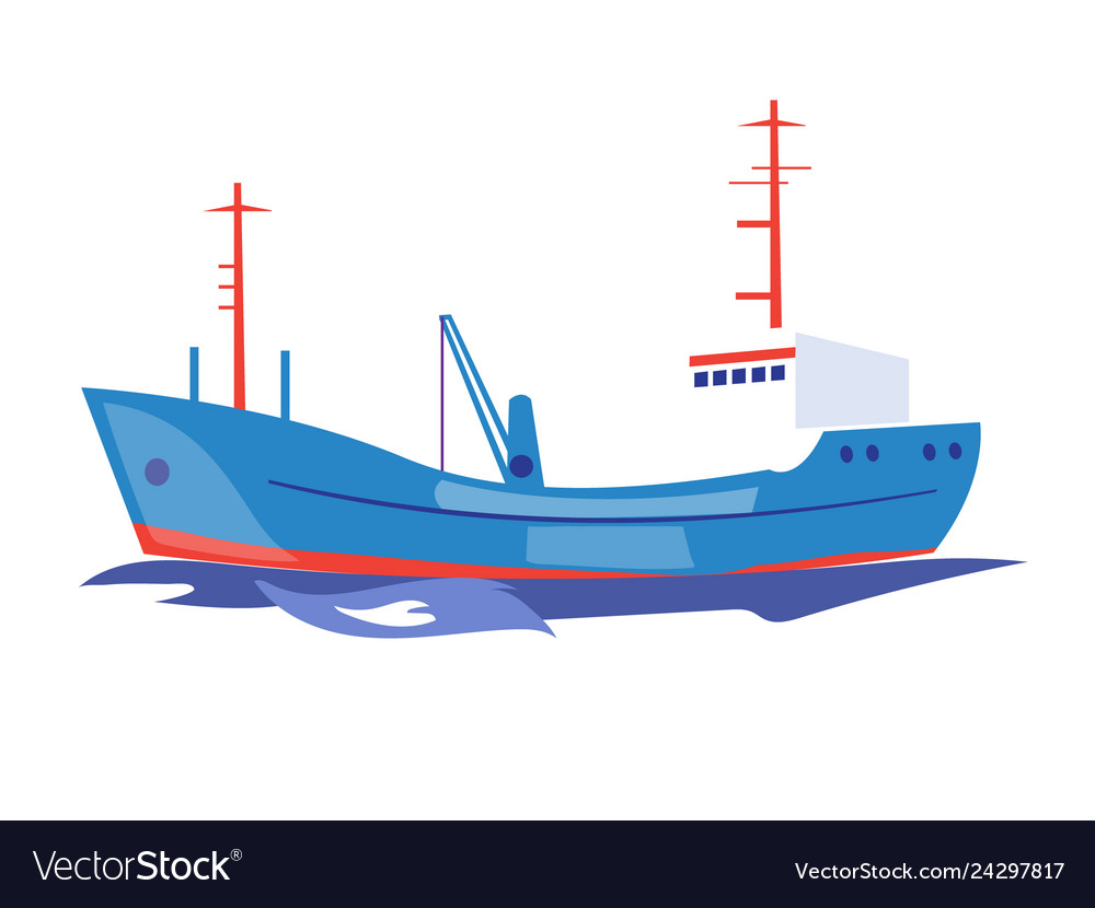 Transportation ship on the water