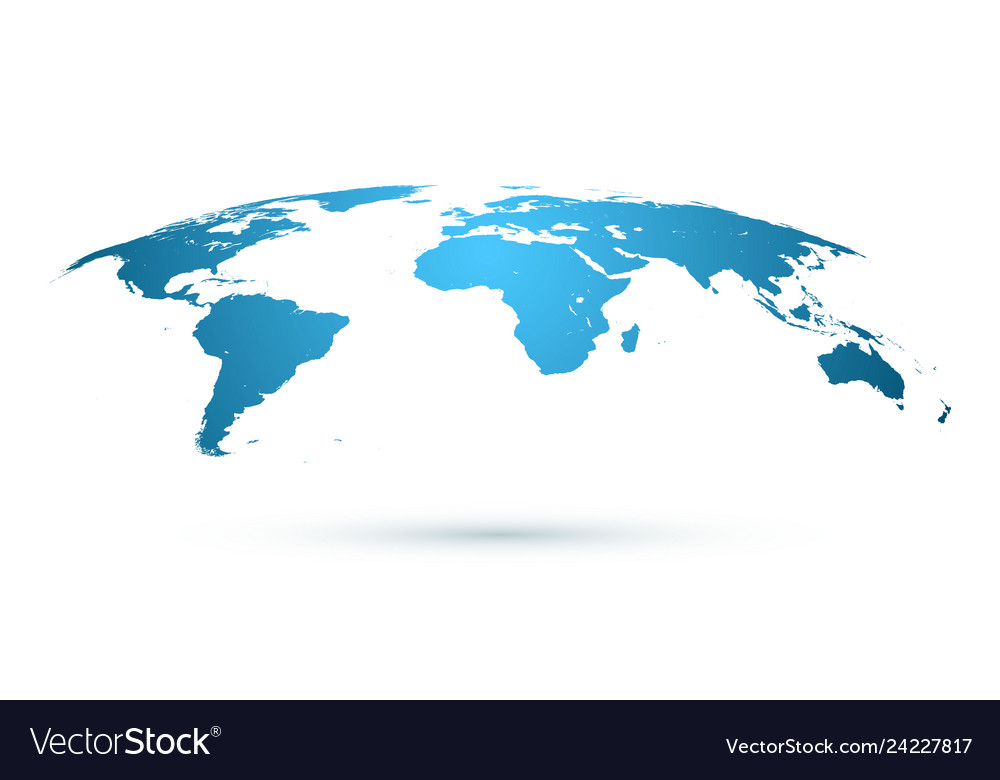World map isolated on white background in blue