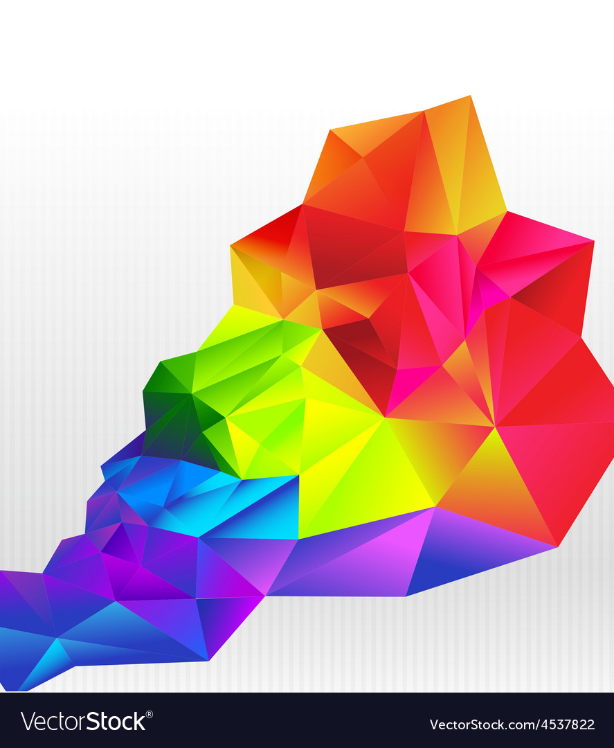 Abstract background colorful triangle polygonal