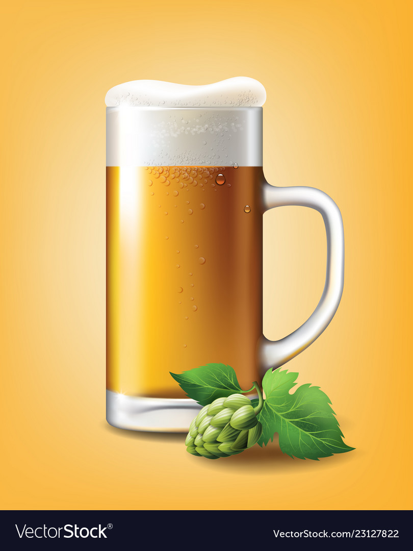 Beer poster template for classic white beer ad