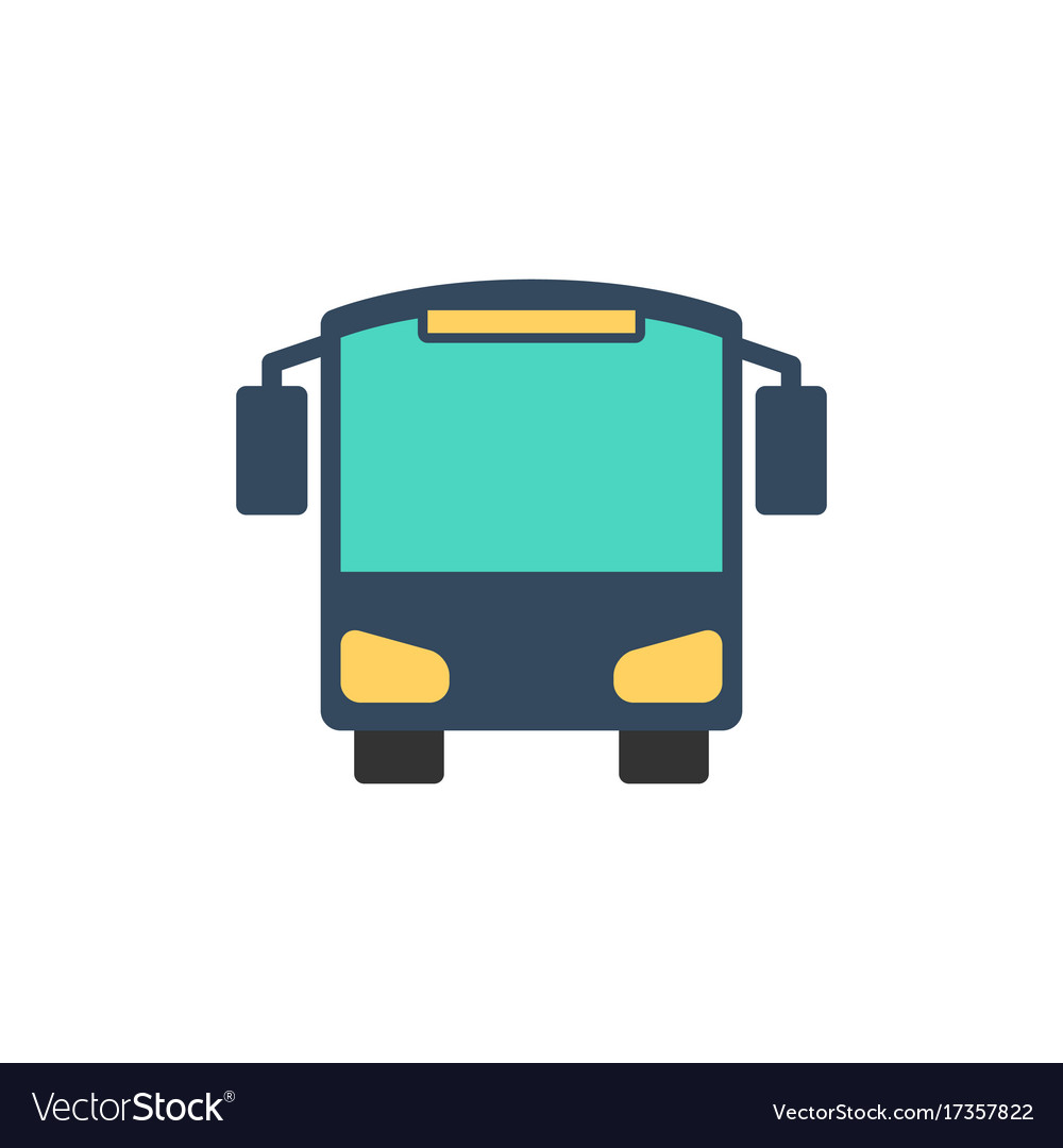 Bus icon flat