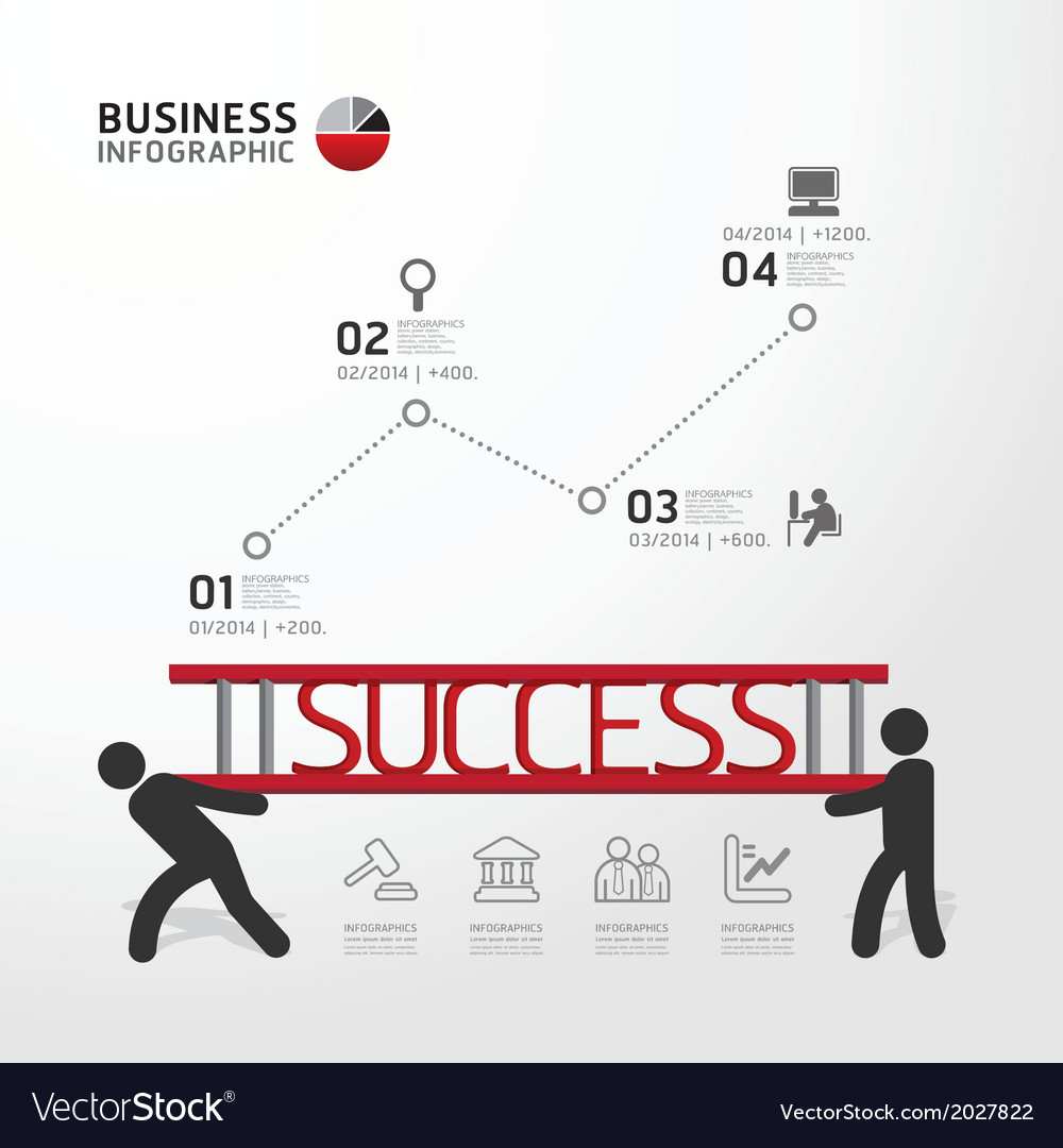 Business Infographic carrying ladder concept
