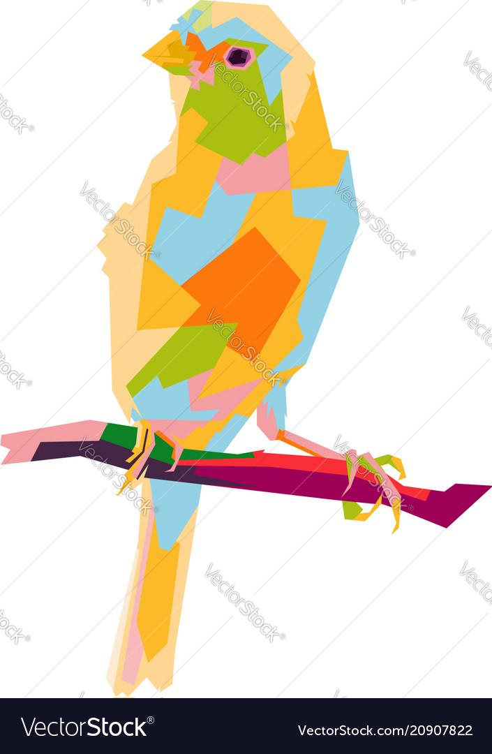 Canary bird pop art