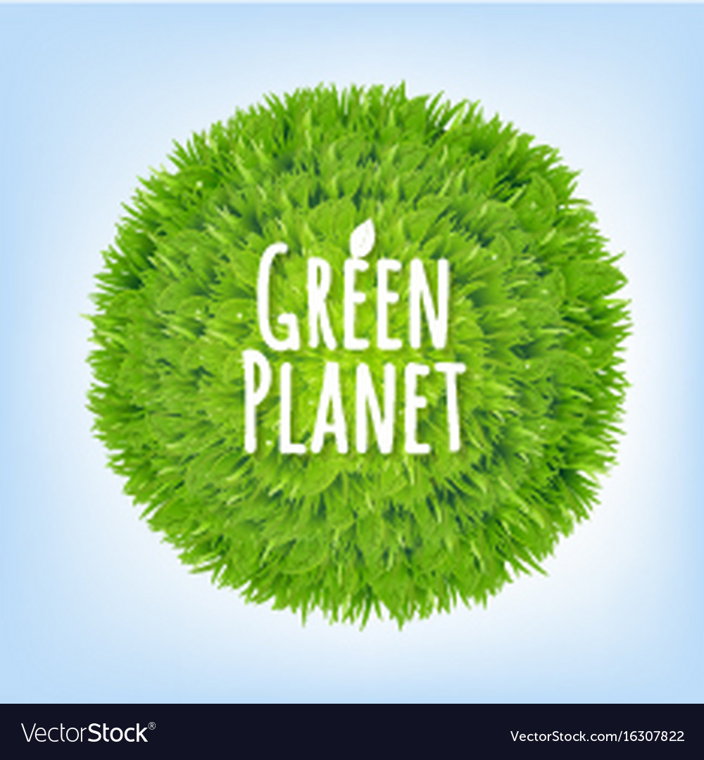 Green planet vector image
