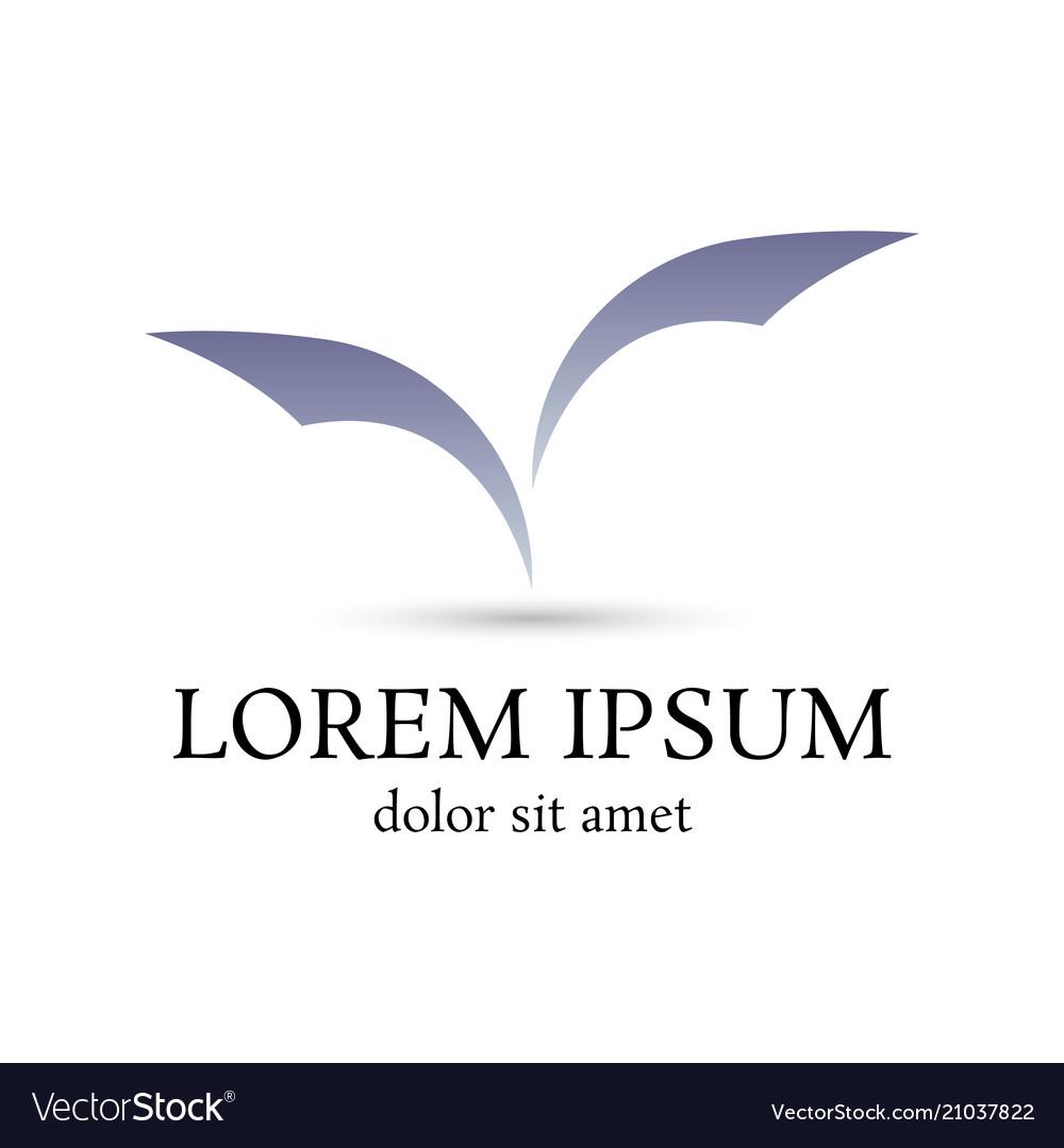 letter v bat form logo design template royalty free vector