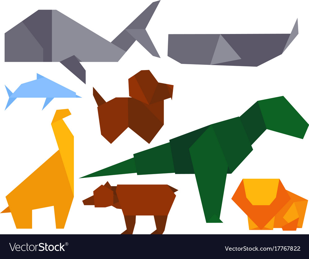 Origami style of different animals