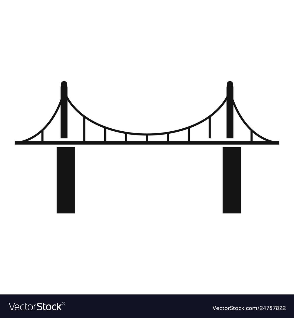 Park bridge icon simple style