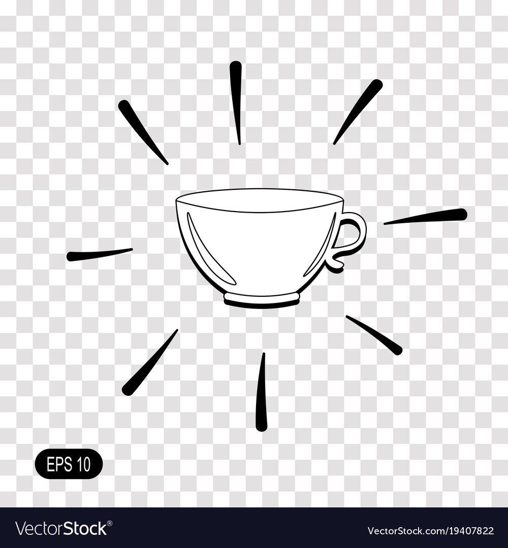tea cup icon isolated on transparent background vector image vectorstock
