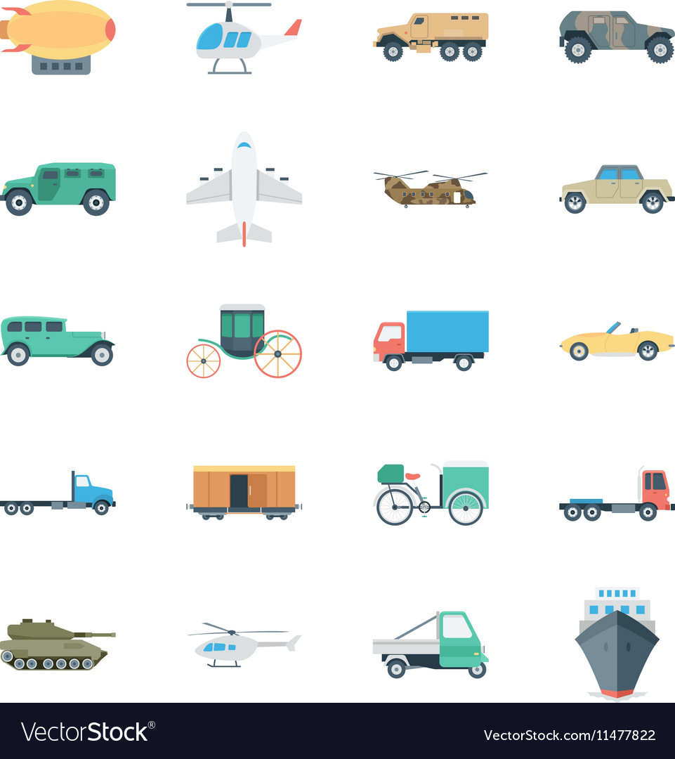 Transports Colored Icons 5