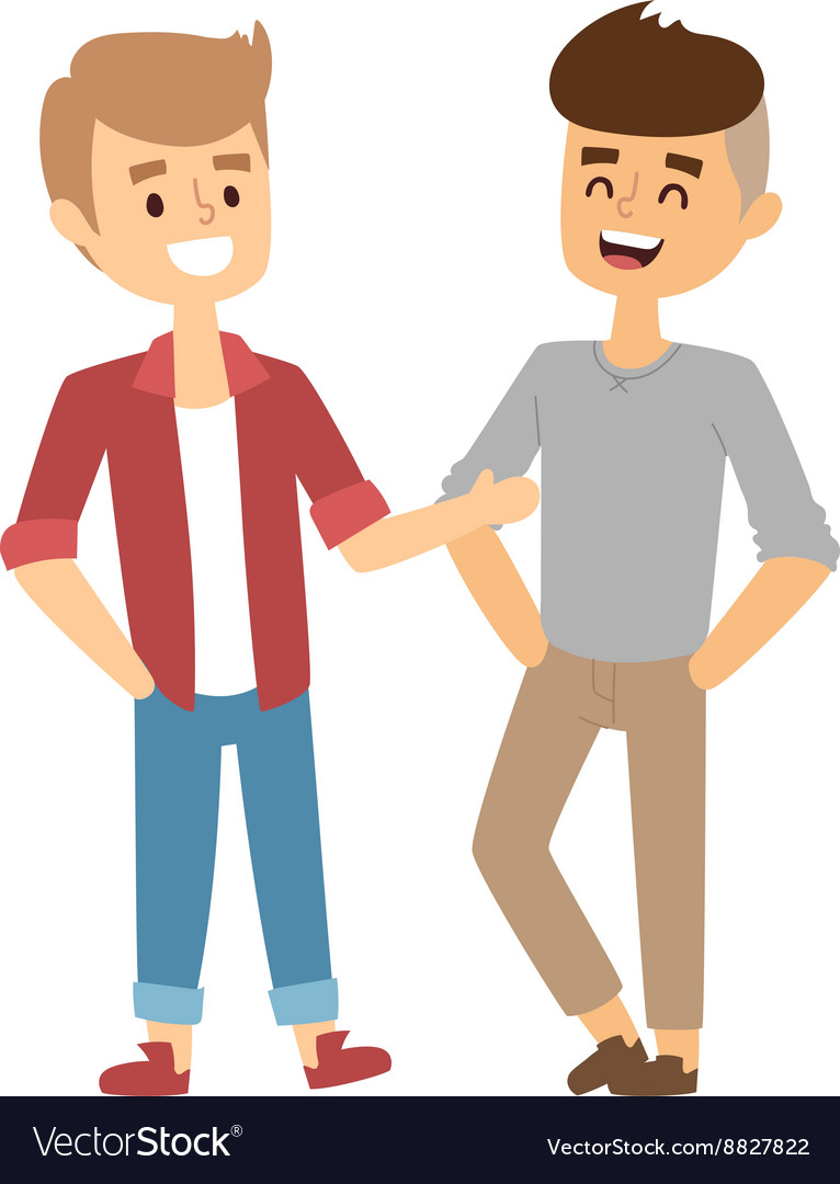 Two Friends Royalty Free Vector Image Vectorstock Two Friends