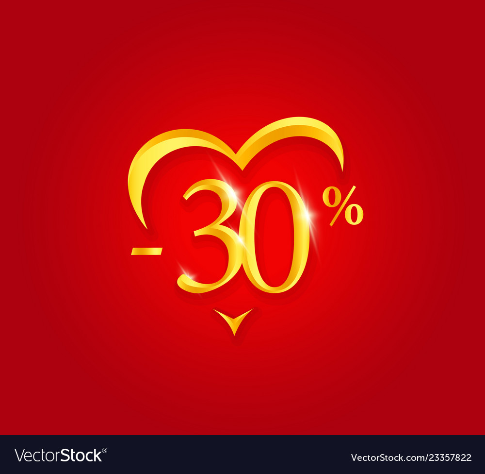 Valentines day sale poster holiday discount