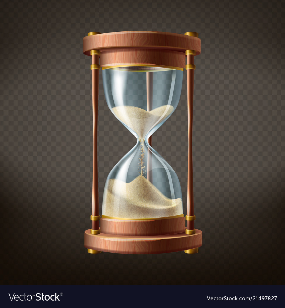 3d realistic hourglass with running sand
