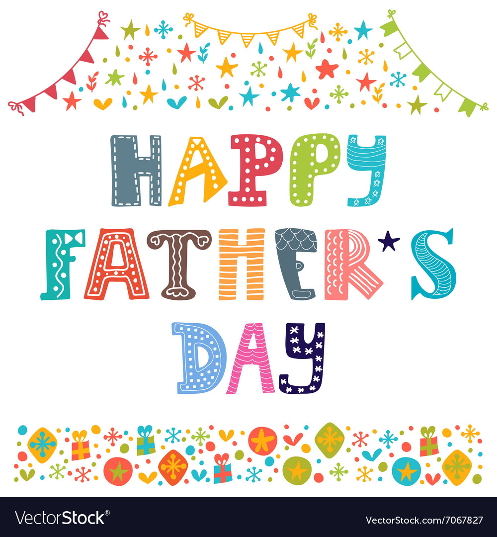 Happy Fathers day Best dad postcard