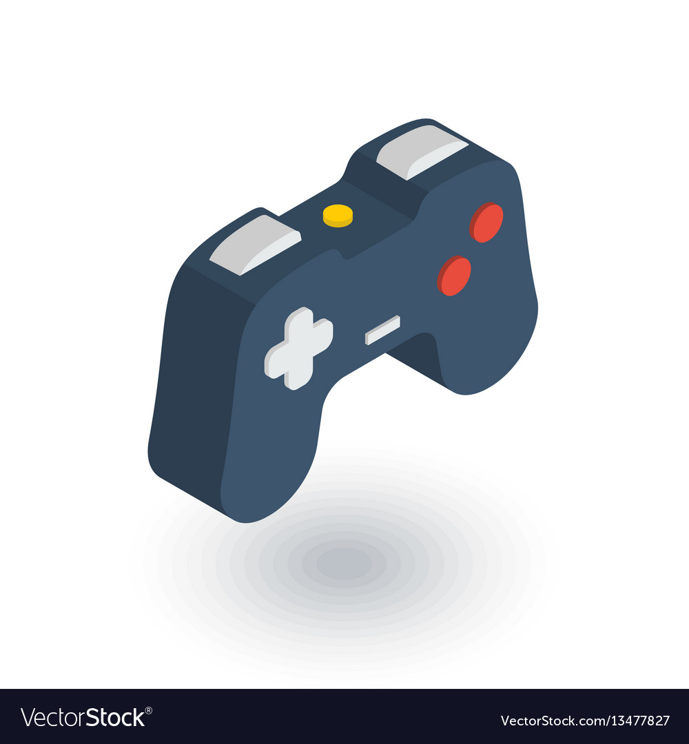 Joystick gaming isometric flat icon 3d vector image