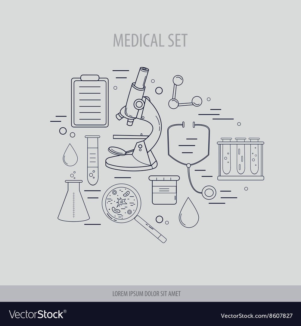 Medical science chemistry hand-drawn design