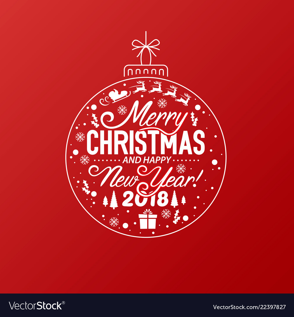 merry christmas and happy new year 2018 free download