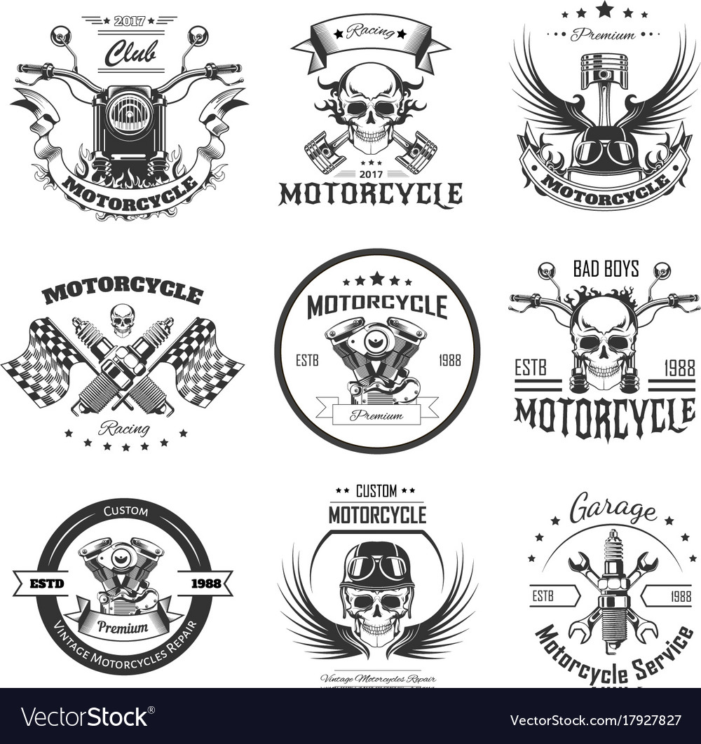 Motorcycle or bikers club logo templates